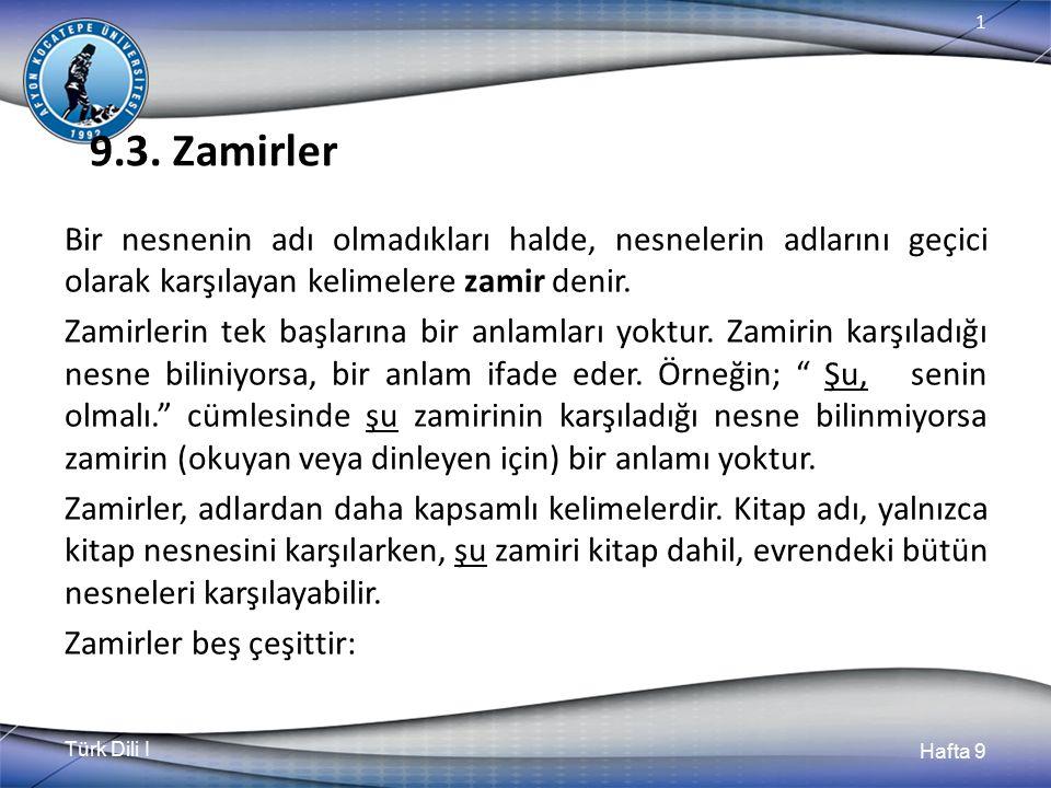 9.3. Zamirler