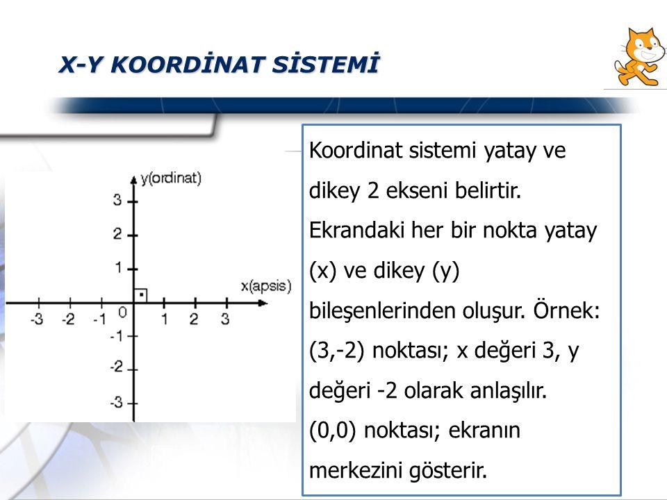 X-Y KOORDİNAT SİSTEMİ