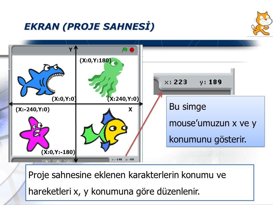 Bu simge mouse'umuzun x ve y konumunu gösterir.
