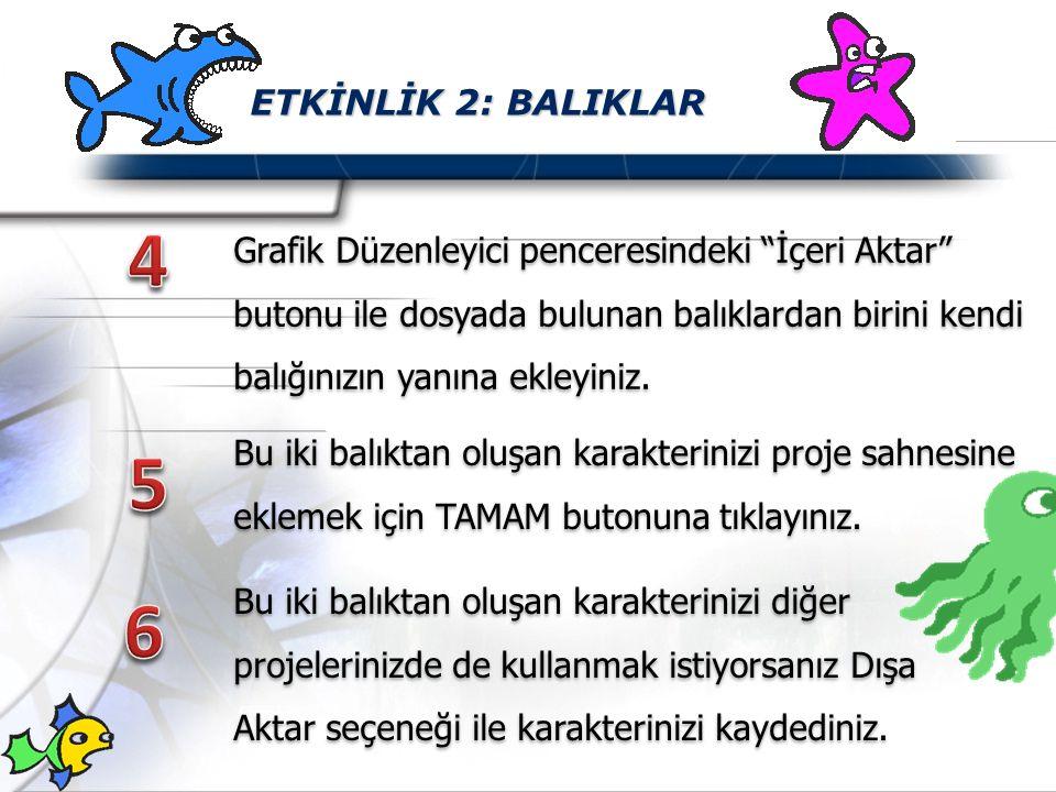 ETKİNLİK 2: BALIKLAR 4.