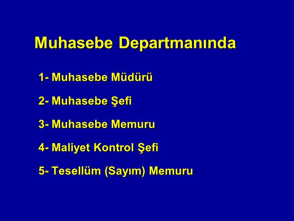 Muhasebe Departmanında