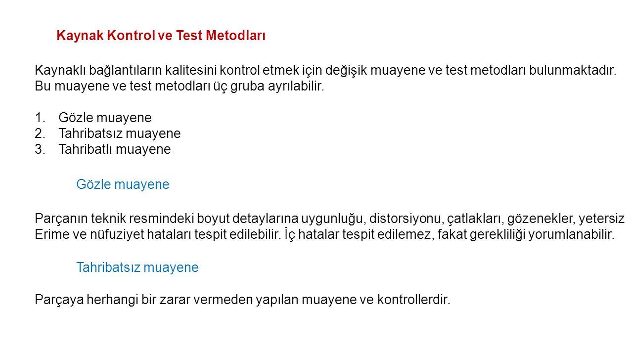 Kaynak Kontrol ve Test Metodları