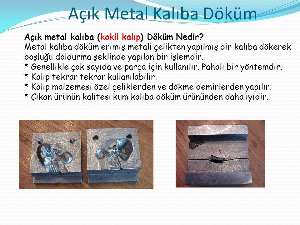 Açık Metal Kalıba Döküm