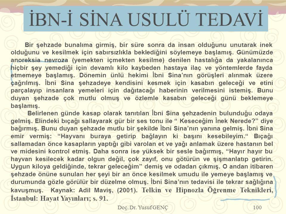İBN-İ SİNA USULÜ TEDAVİ