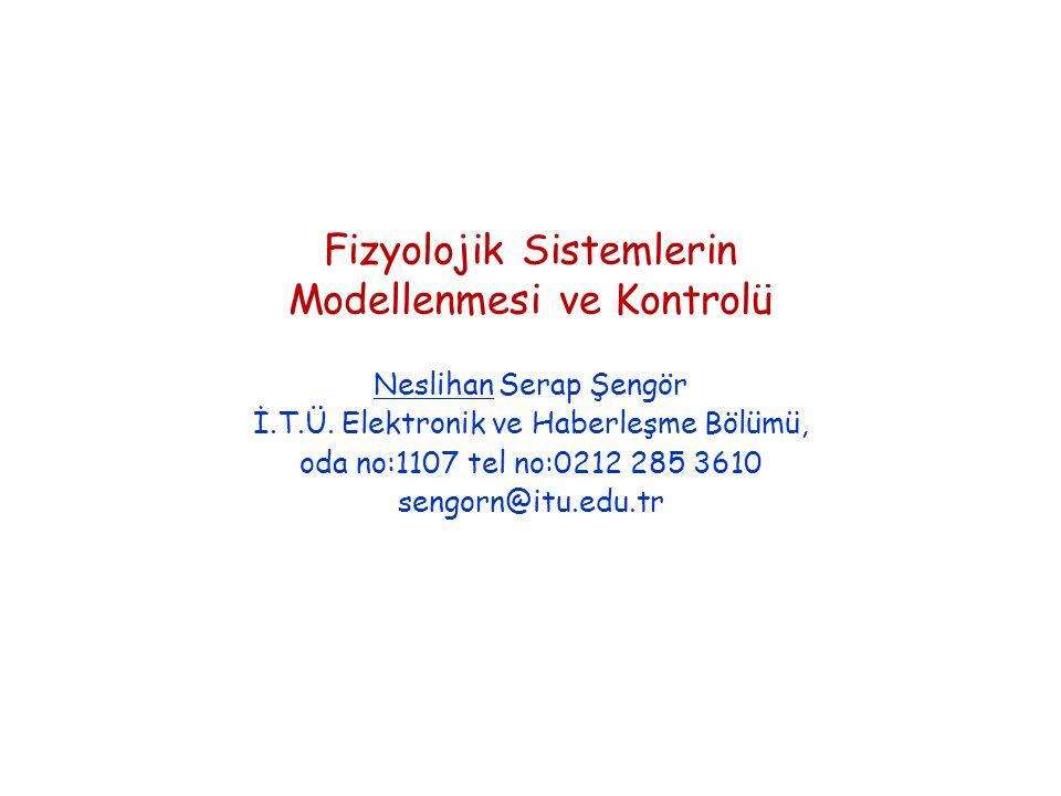 Fizyolojik Sistemlerin Modellenmesi ve Kontrolü