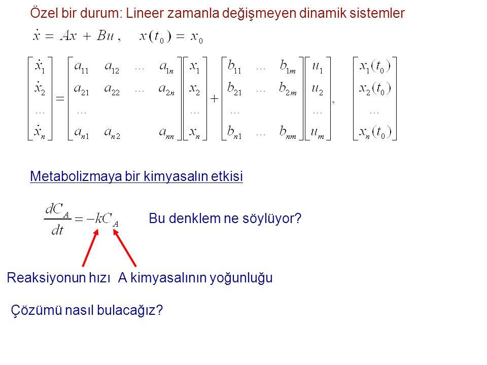 Özel bir durum: Lineer zamanla değişmeyen dinamik sistemler