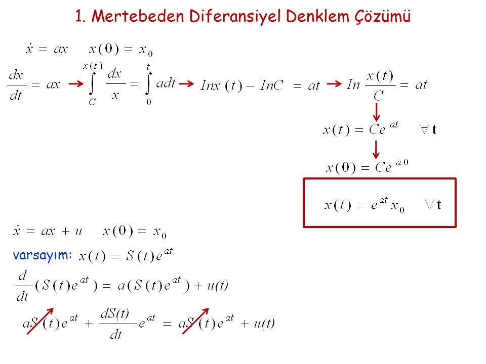 1. Mertebeden Diferansiyel Denklem Çözümü
