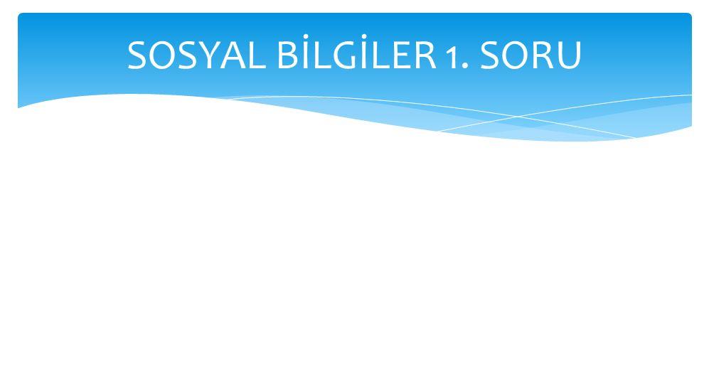 SOSYAL BİLGİLER 1. SORU