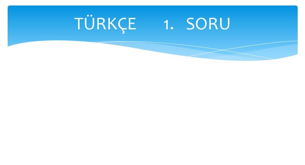 TÜRKÇE 1. SORU
