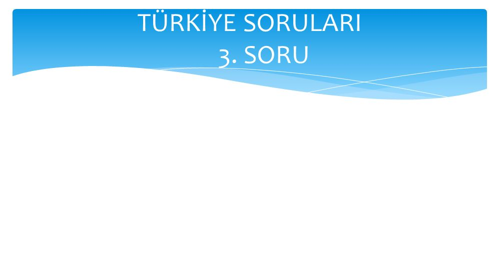 TÜRKİYE SORULARI 3. SORU