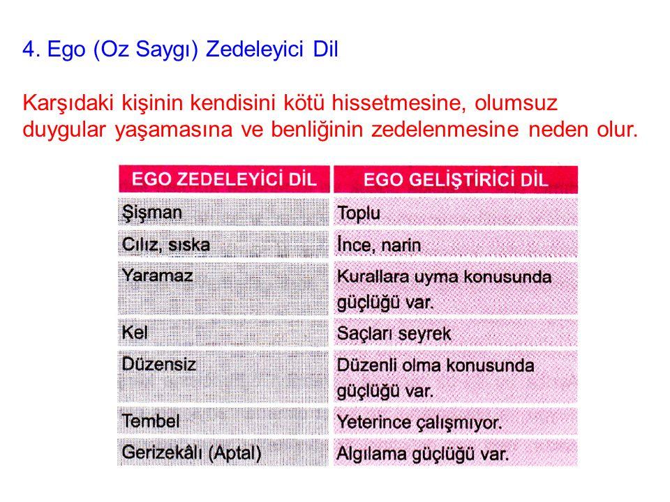 4. Ego (Oz Saygı) Zedeleyici Dil