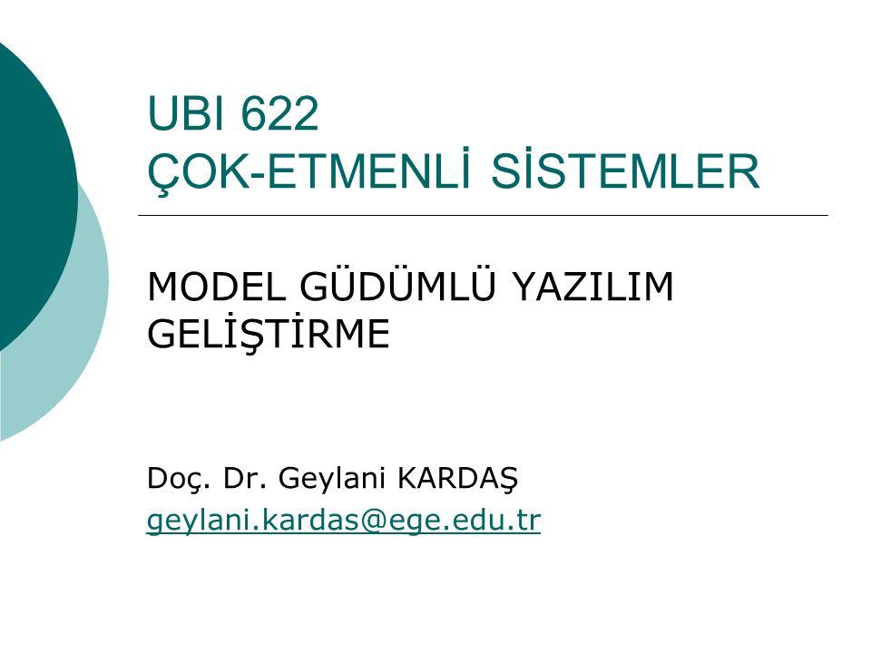 UBI 622 ÇOK-ETMENLİ SİSTEMLER