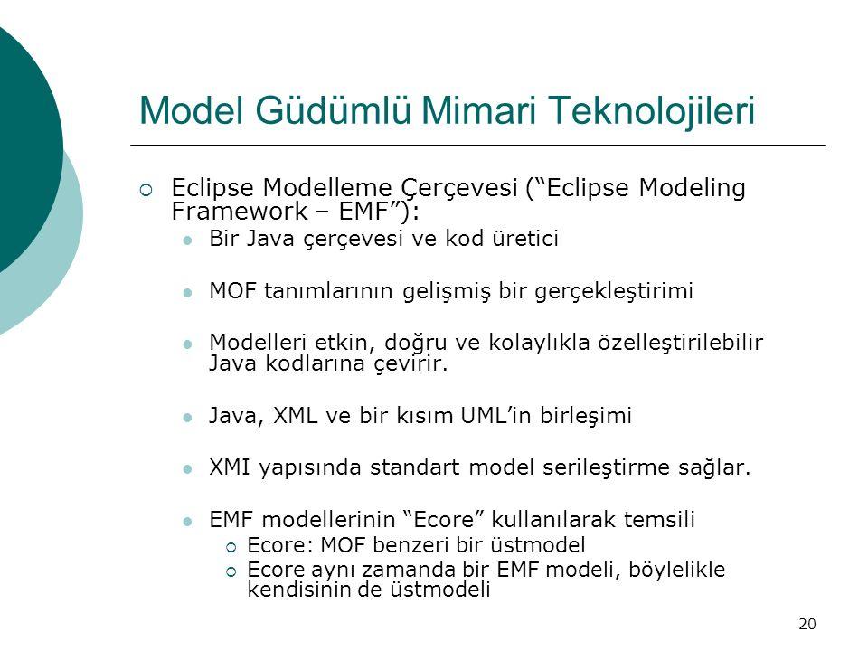 Model Güdümlü Mimari Teknolojileri