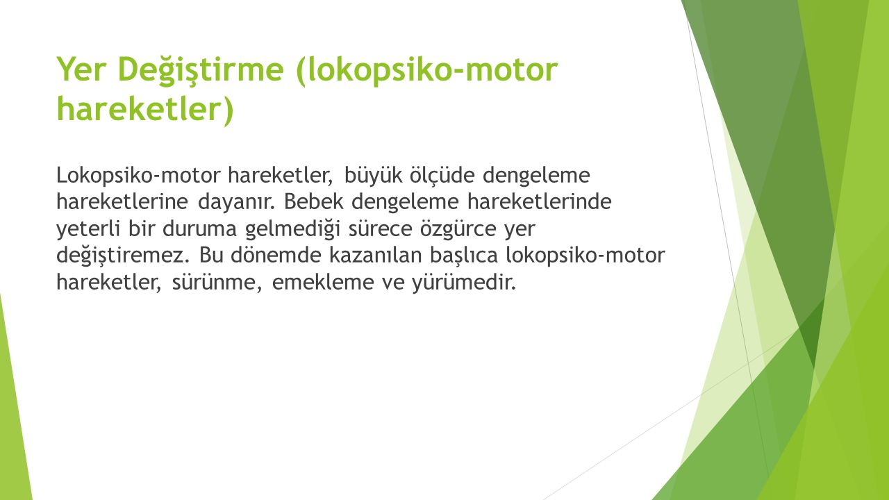 Yer Değiştirme (lokopsiko-motor hareketler)