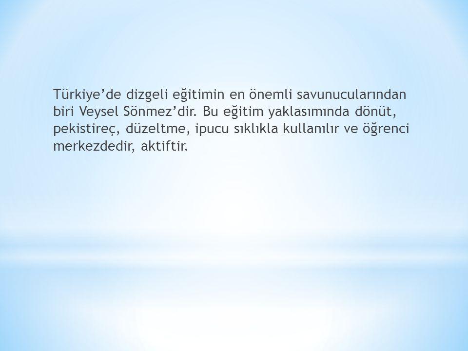 Türkiye'de dizgeli eğitimin en önemli savunucularından biri Veysel Sönmez'dir.