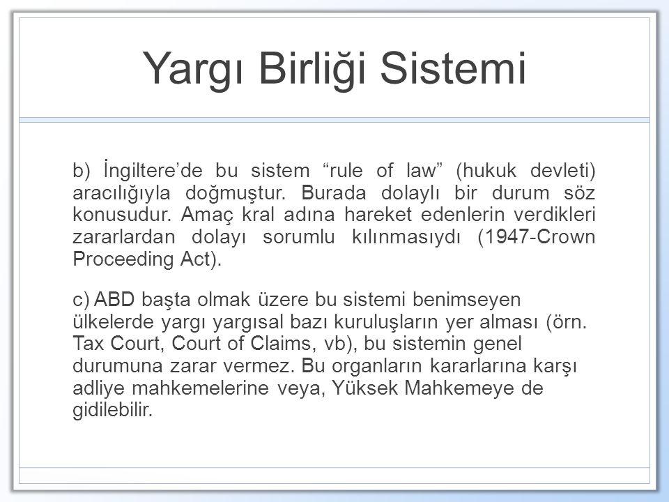 Yargı Birliği Sistemi
