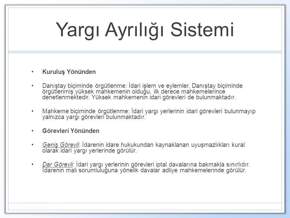 Yargı Ayrılığı Sistemi