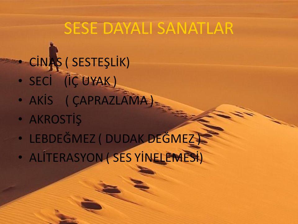 SESE DAYALI SANATLAR CİNAS ( SESTEŞLİK) SECİ (İÇ UYAK )