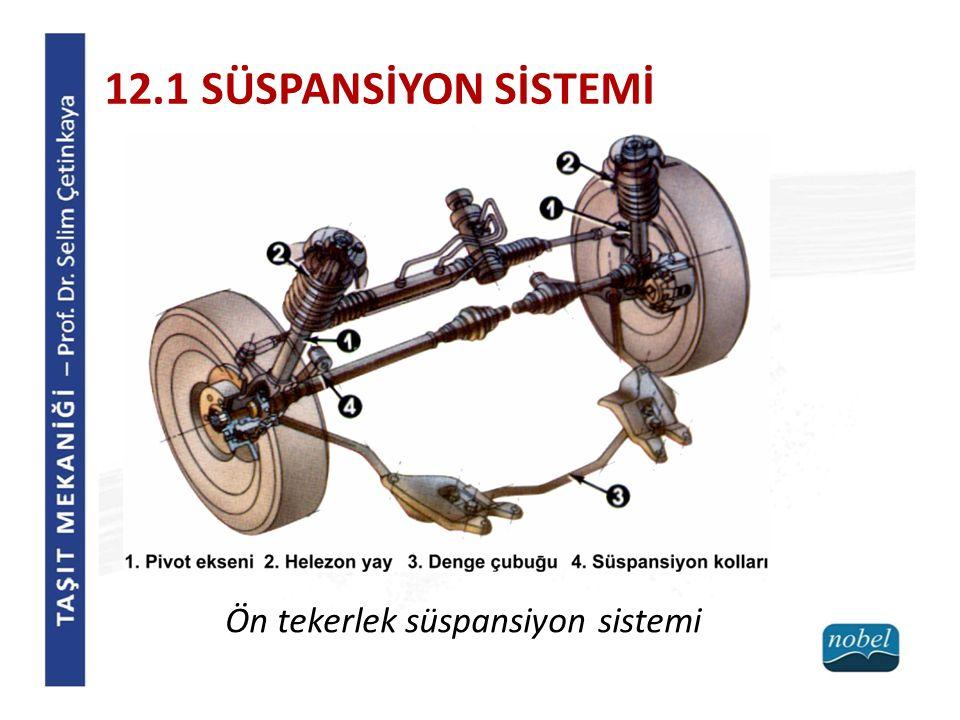 12.1 SÜSPANSİYON SİSTEMİ Ön tekerlek süspansiyon sistemi