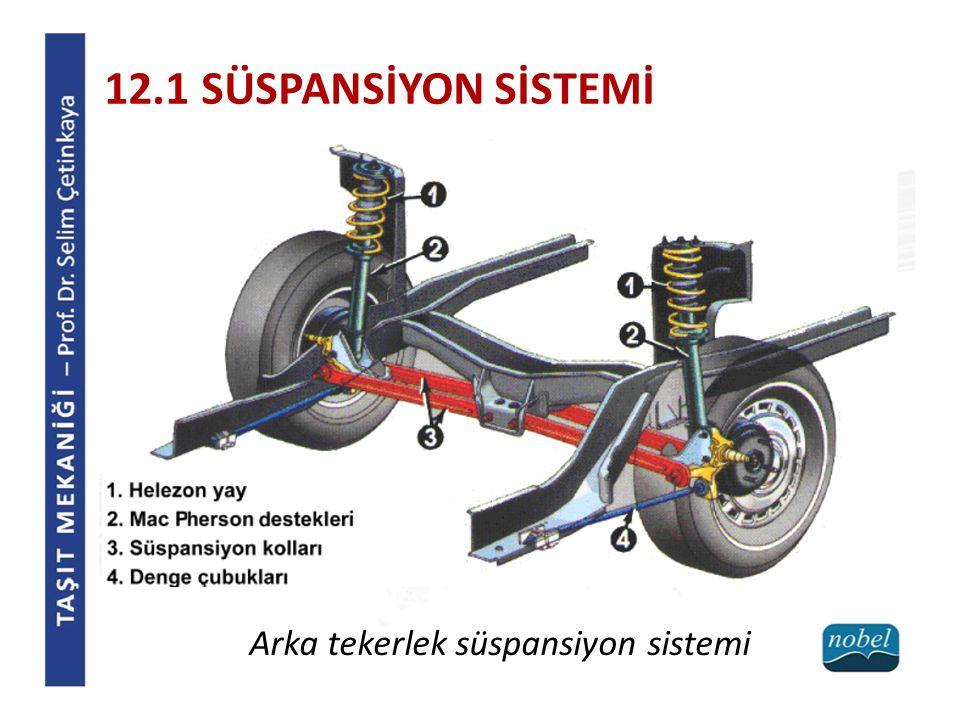 12.1 SÜSPANSİYON SİSTEMİ Arka tekerlek süspansiyon sistemi