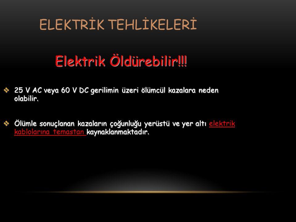ELEKTRİK TEHLİKELERİ Elektrik Öldürebilir!!!