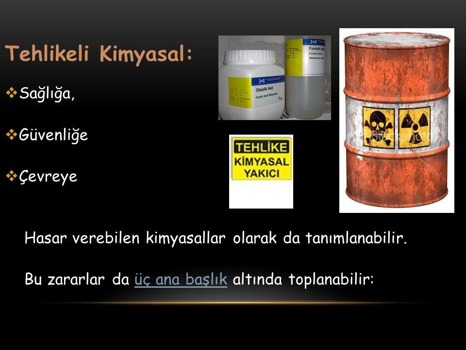 Tehlikeli Kimyasal: Sağlığa, Güvenliğe Çevreye