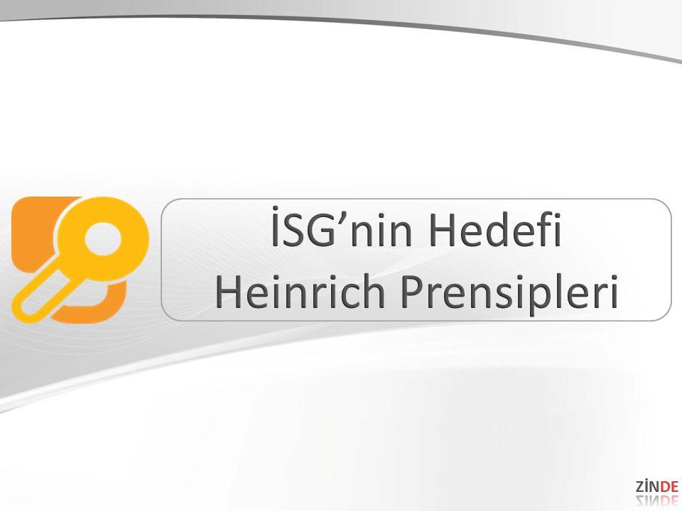 İSG'nin Hedefi Heinrich Prensipleri ZİNDE 15 15