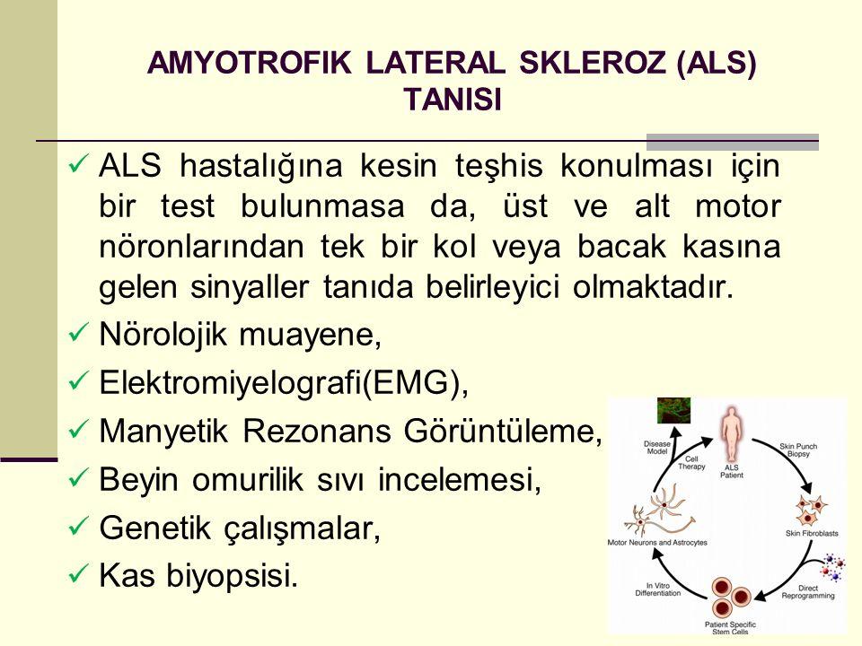 AMYOTROFIK LATERAL SKLEROZ (ALS) TANISI