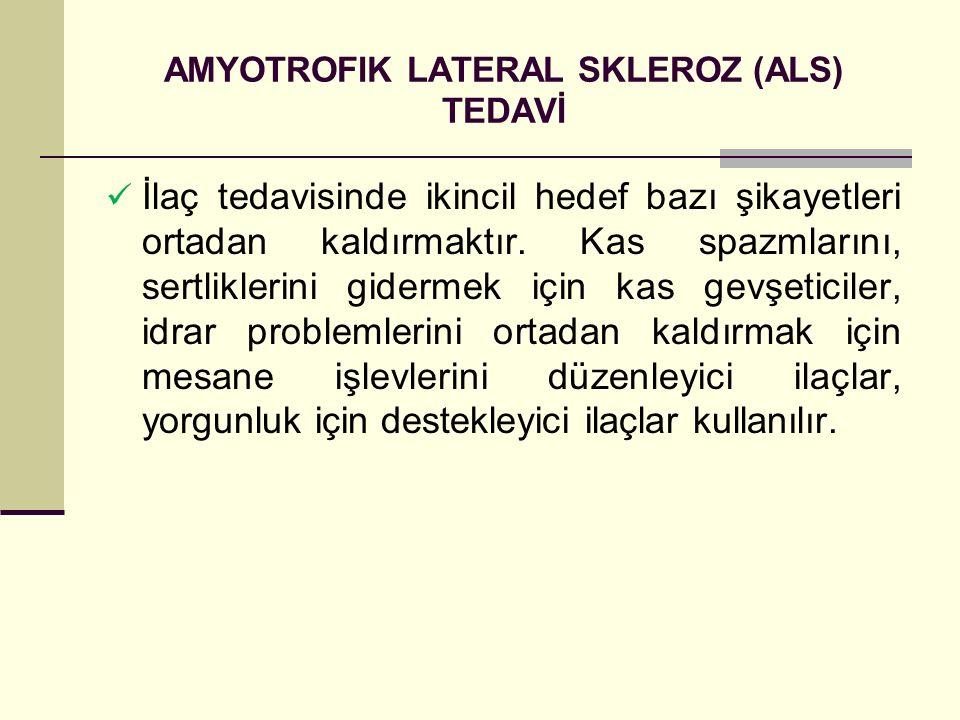 AMYOTROFIK LATERAL SKLEROZ (ALS) TEDAVİ