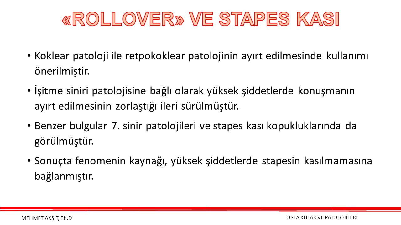 «ROLLOVER» VE STAPES KASI