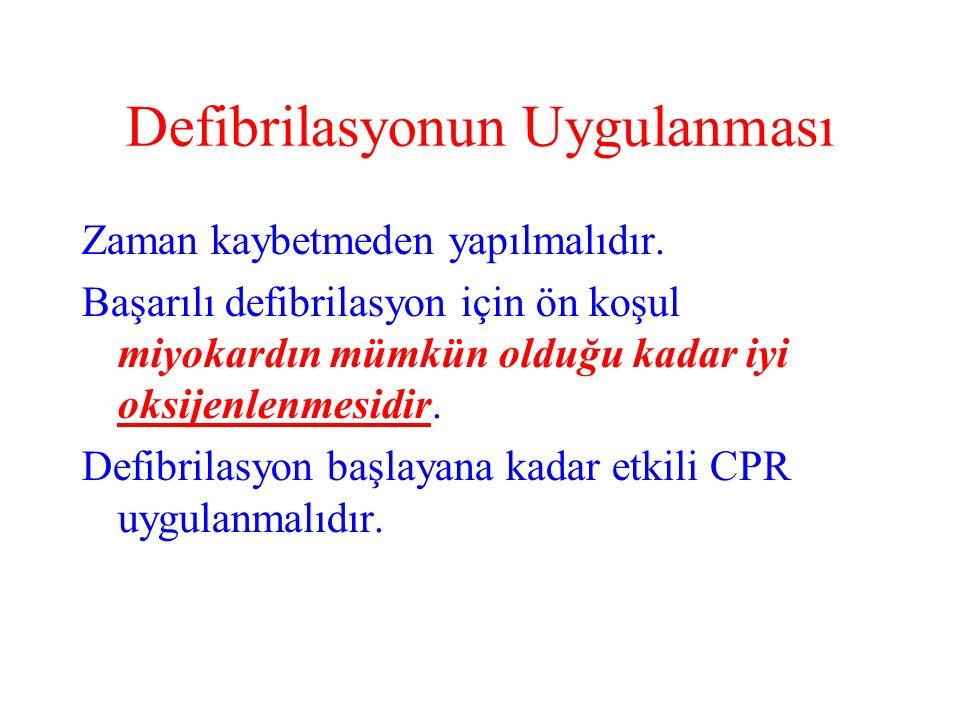 Defibrilasyonun Uygulanması