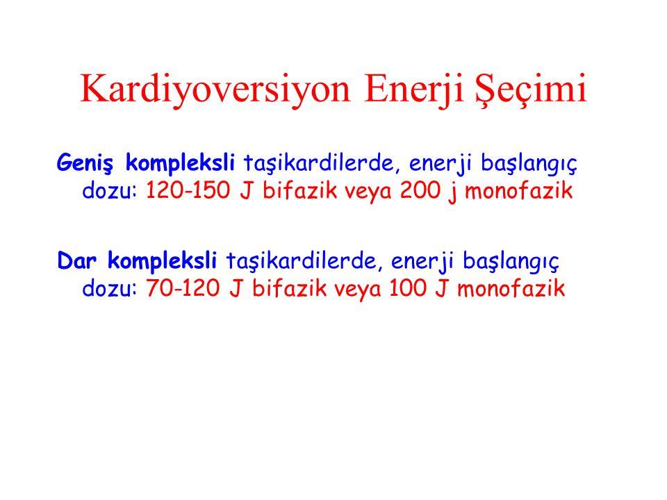 Kardiyoversiyon Enerji Şeçimi