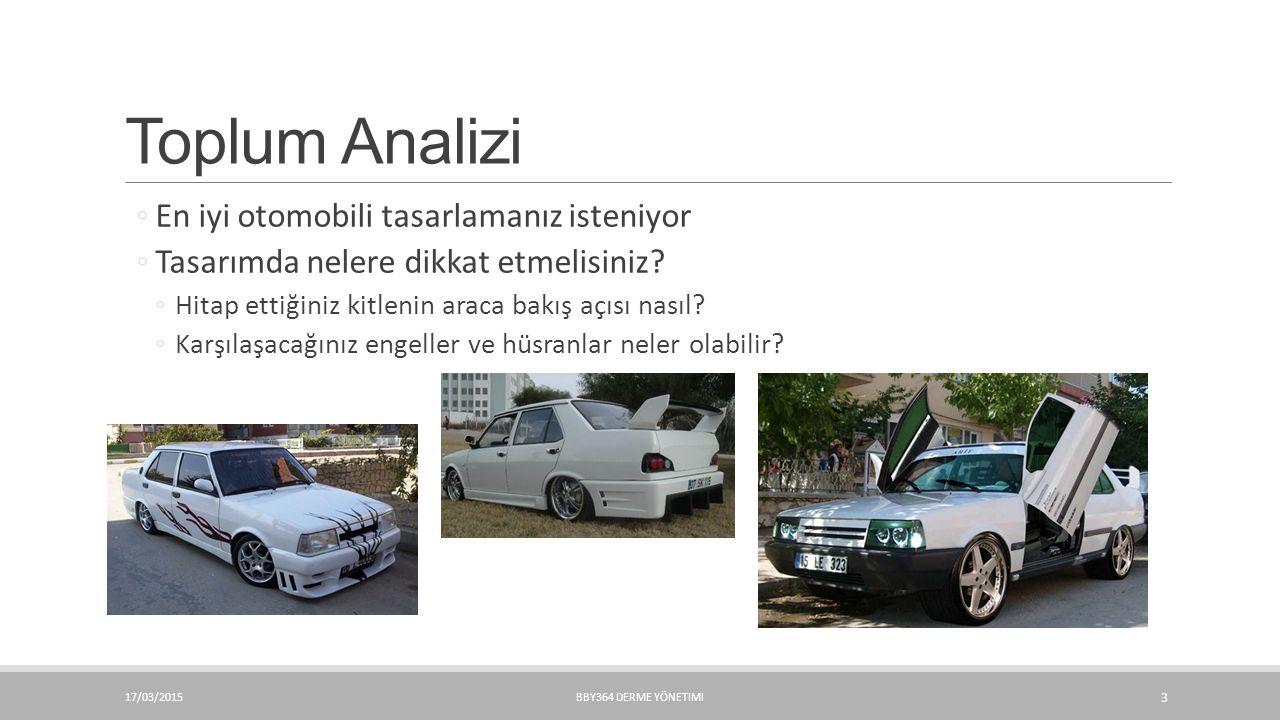 Toplum Analizi En iyi otomobili tasarlamanız isteniyor