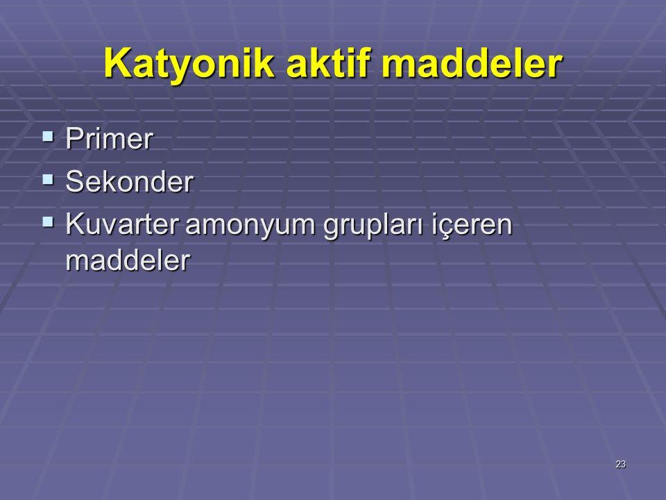 Katyonik aktif maddeler