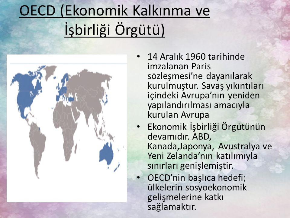OECD (Ekonomik Kalkınma ve İşbirliği Örgütü)