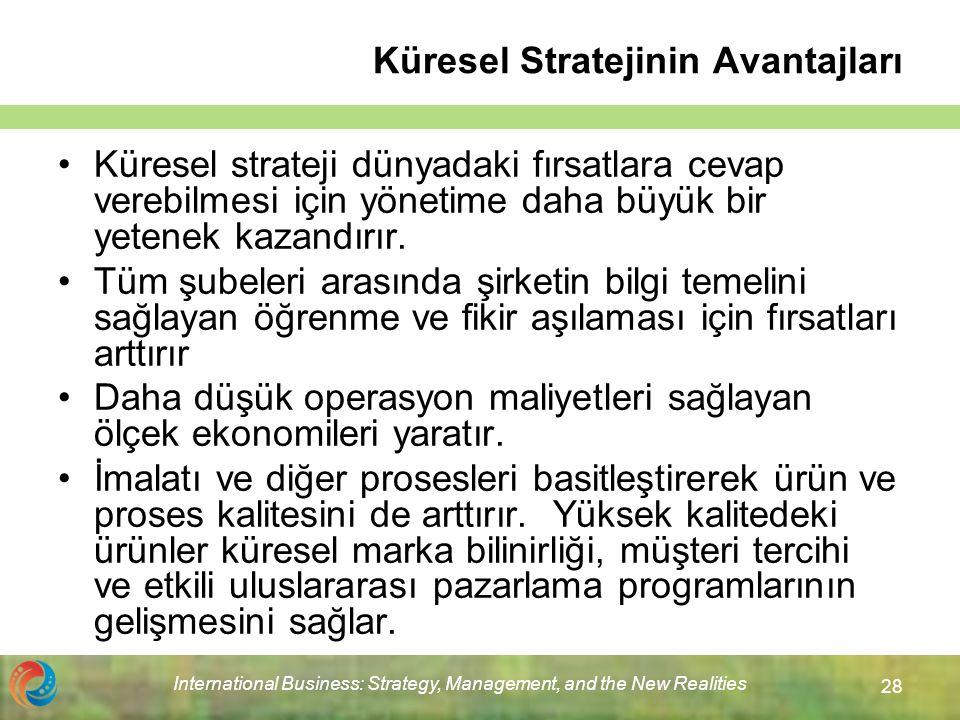 Küresel Stratejinin Avantajları