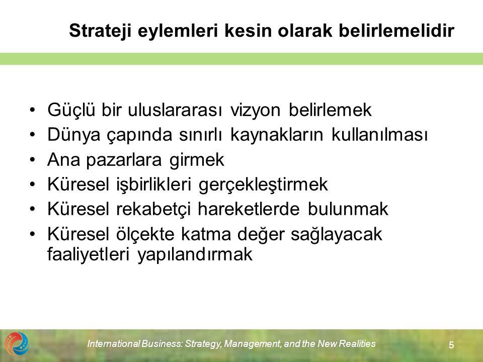 Strateji eylemleri kesin olarak belirlemelidir