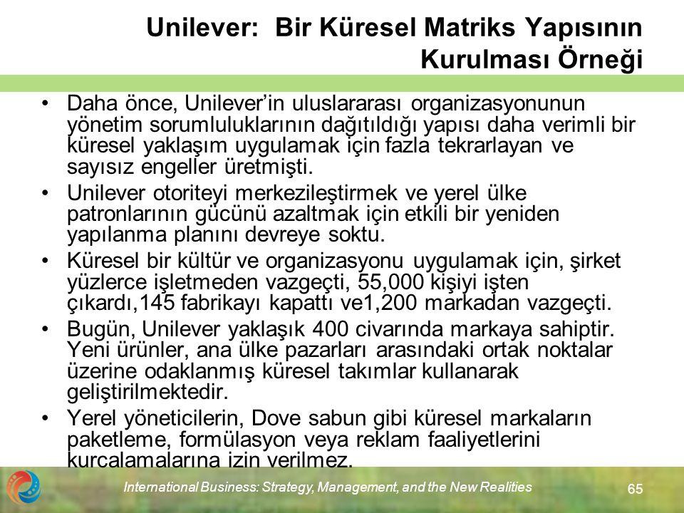 Unilever: Bir Küresel Matriks Yapısının Kurulması Örneği