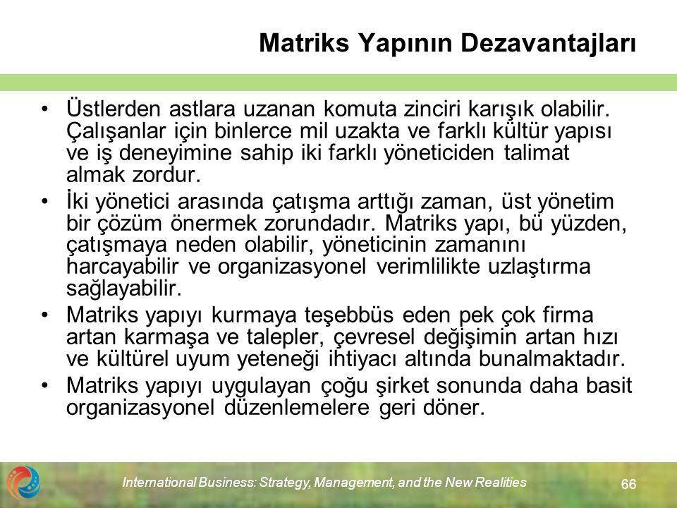 Matriks Yapının Dezavantajları