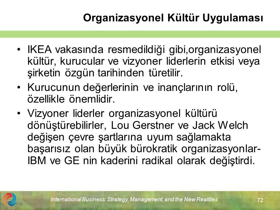 Organizasyonel Kültür Uygulaması