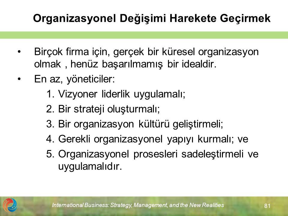 Organizasyonel Değişimi Harekete Geçirmek
