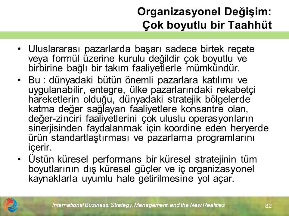 Organizasyonel Değişim: Çok boyutlu bir Taahhüt