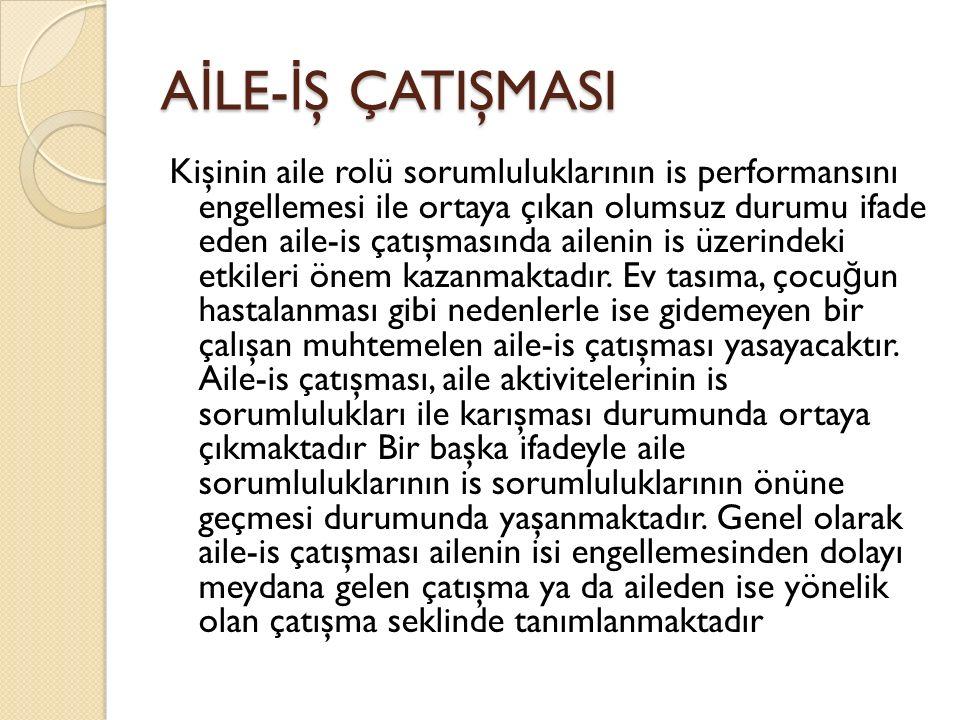 AİLE-İŞ ÇATIŞMASI