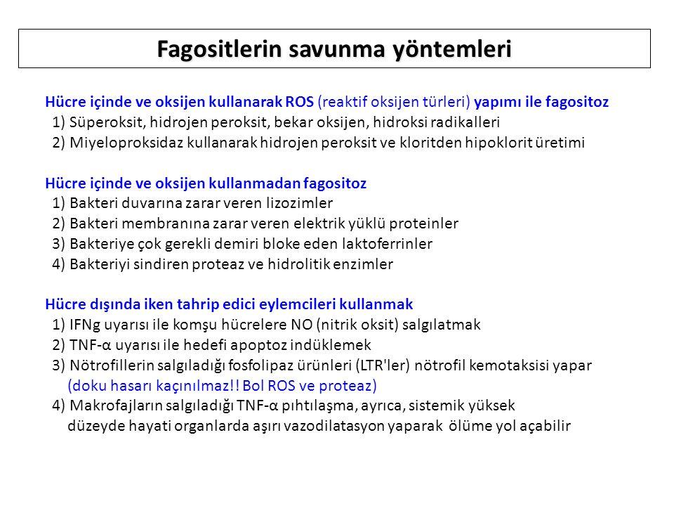 Fagositlerin savunma yöntemleri