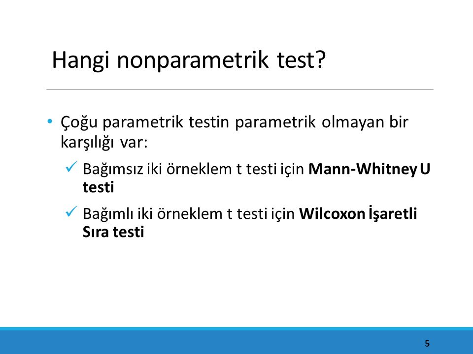 Hangi nonparametrik test