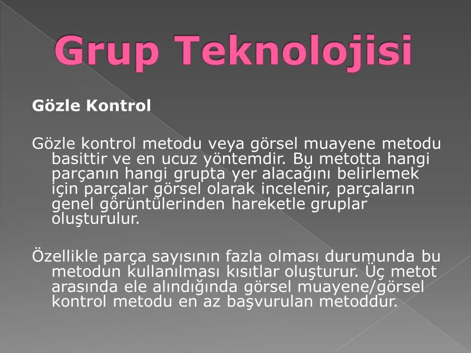Grup Teknolojisi Gözle Kontrol