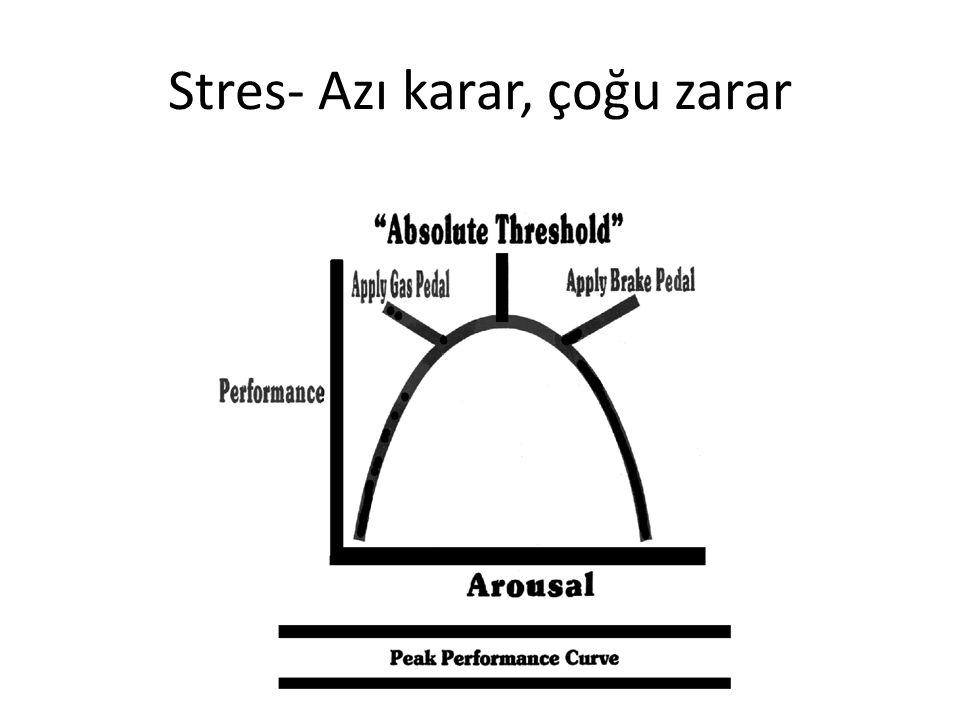 Stres- Azı karar, çoğu zarar