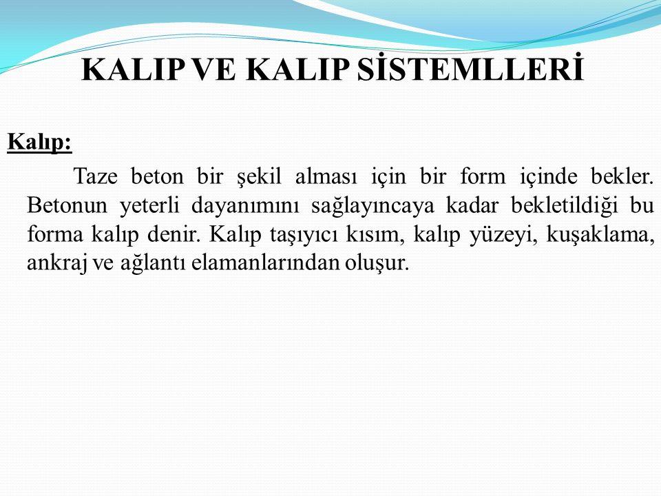 KALIP VE KALIP SİSTEMLLERİ