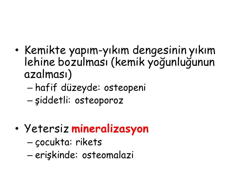 Yetersiz mineralizasyon