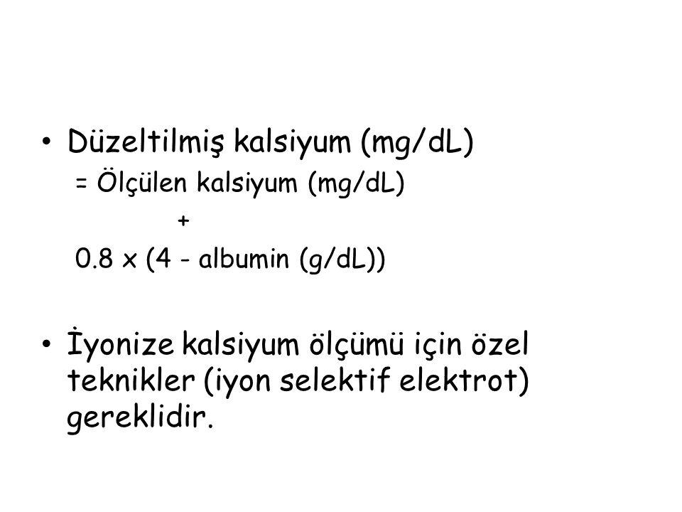 Düzeltilmiş kalsiyum (mg/dL)